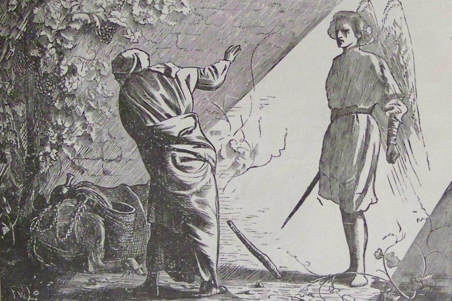 """""""Balaam i Anioł"""", ilustracja z Biblii Holmana/ Wikipedia"""