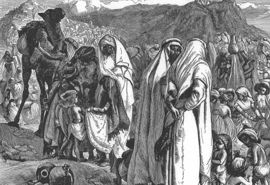 """Ruben i Gad proszą o ziemię"", Arthur Boyd Houghton/ Wikipedia"