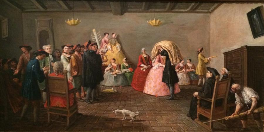 """""""Żydowskie wesele"""", Marco Marcuola, Wenecja, ok. 1780 roku"""