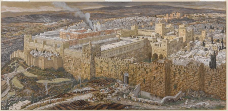 """""""Jerozolima ze Świątynią"""", James Tissot/ Wikipedia"""