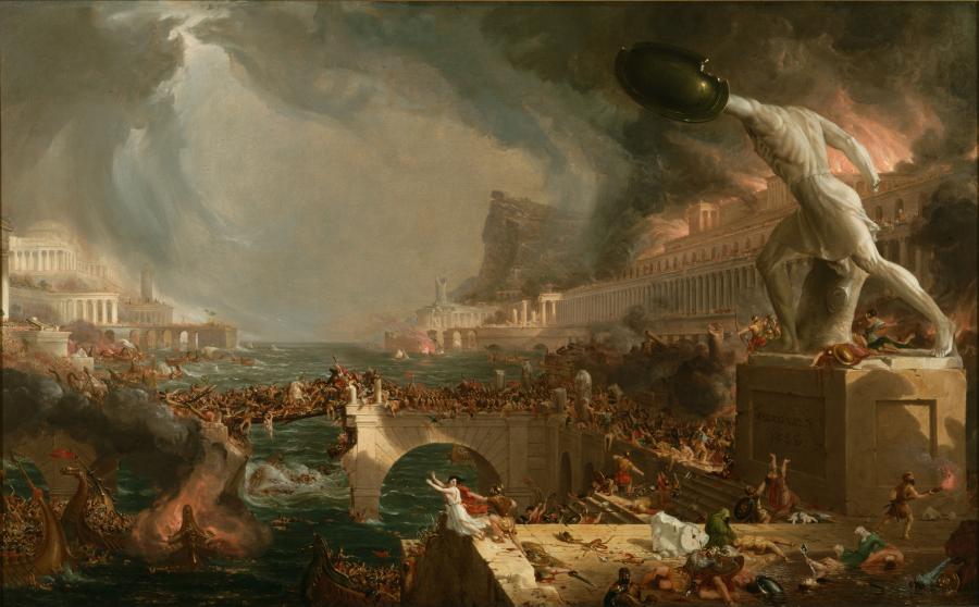 """Thomas Cole, """"Dzieje imperium: zniszczenie""""/ Wikipedia"""