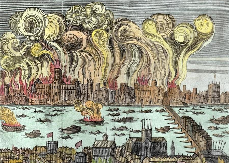 Wielki pożar Londynu/  museumoflondon.org.uk