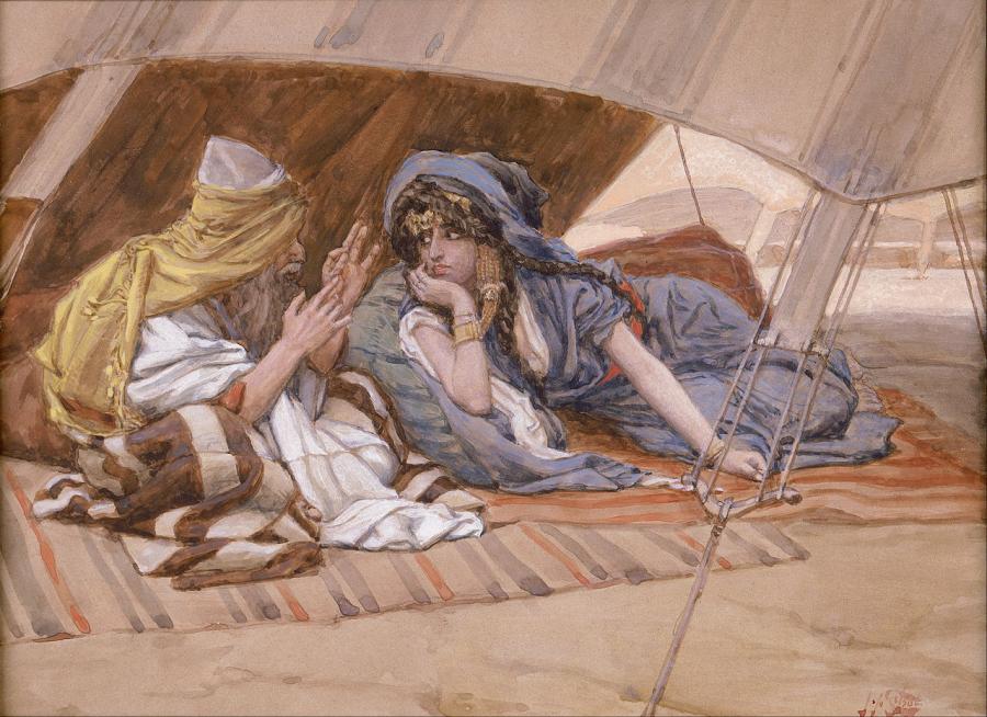 """""""Abraham i Sara"""", James Tissot/ Wikipedia"""