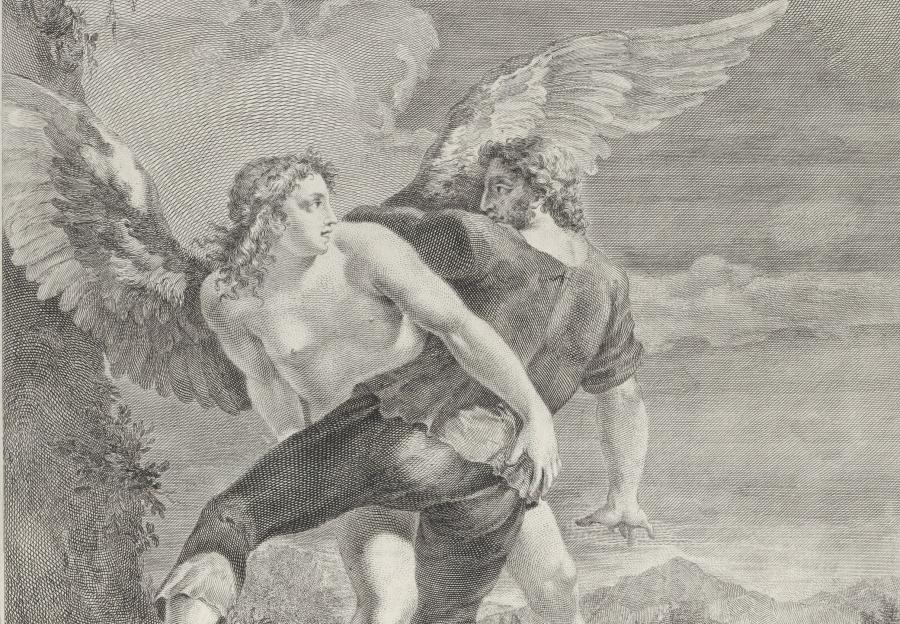 "Pietro Monaco, ""Jakub siłuje się z aniołem""/ metmuseum.org"