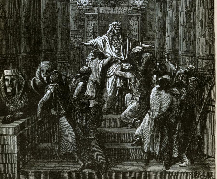 Józef ujawnia sie przed braćmi, ilustr. z Biblii Dore'a/ Wikipedia