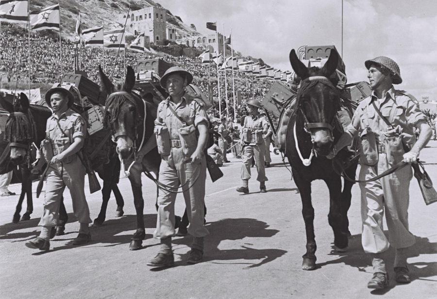 Parada izraelskich żołnierzy/ fot. PINN HANS (GPO)