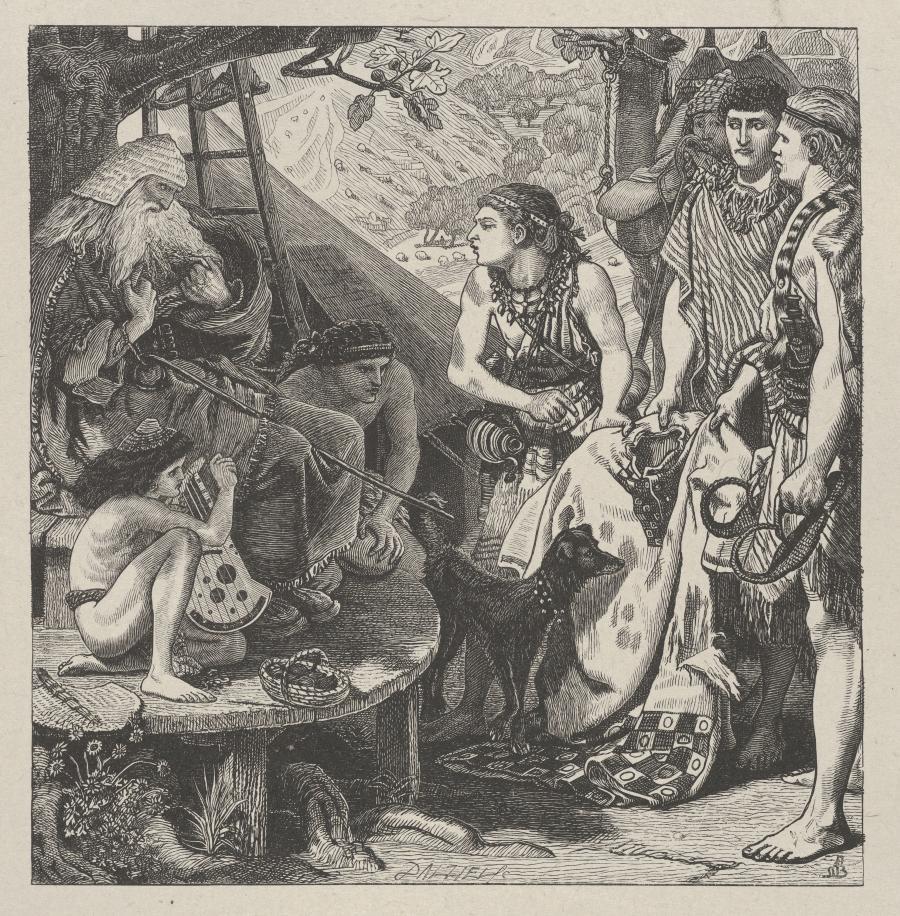 """""""Płaszcz Józefa"""" drzeworyt wg Forda Madoxa Browna / fot. The Metropolitan Museum of Art"""
