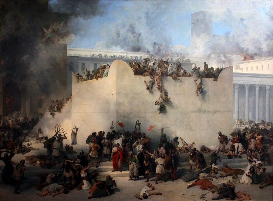 """Francesco Hayez, """"Zniszczenie Świątyni Jerozolimskiej"""" (1867)"""