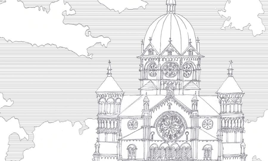 """Nowa Synagoga w Breslau, fragment okładki """"Chiduszu"""" 4/2016 autorstwa Edyty Marciniak"""