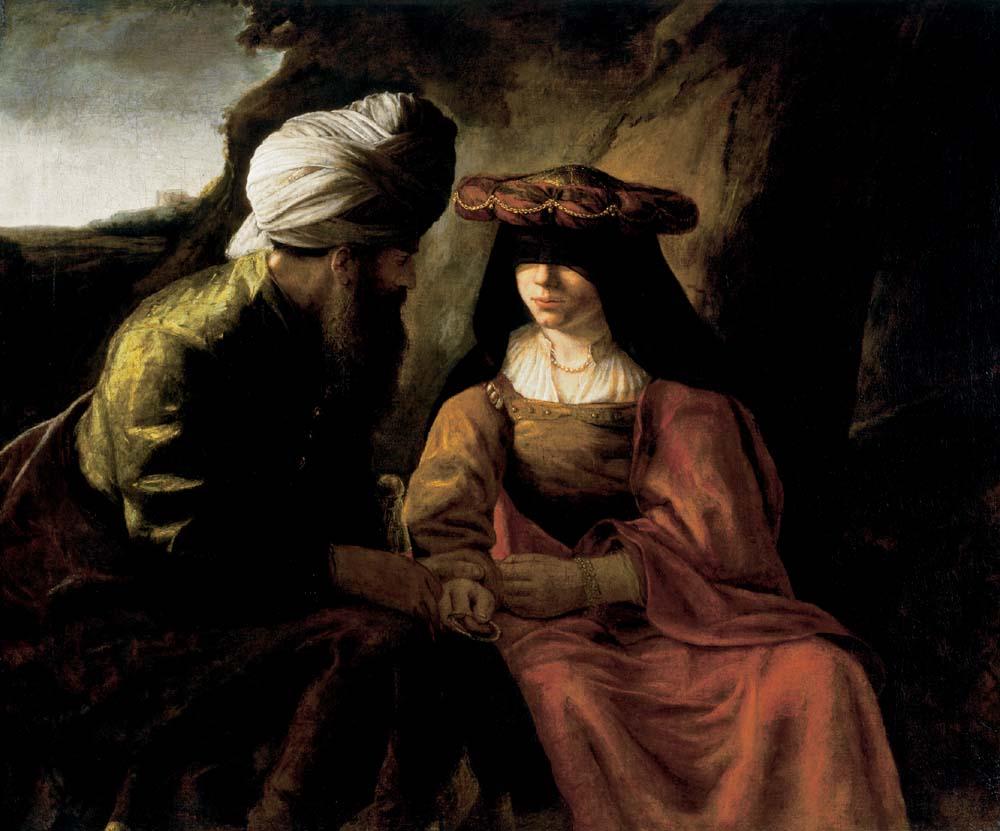 Tamar i Juda (szkoła Rembrandta)