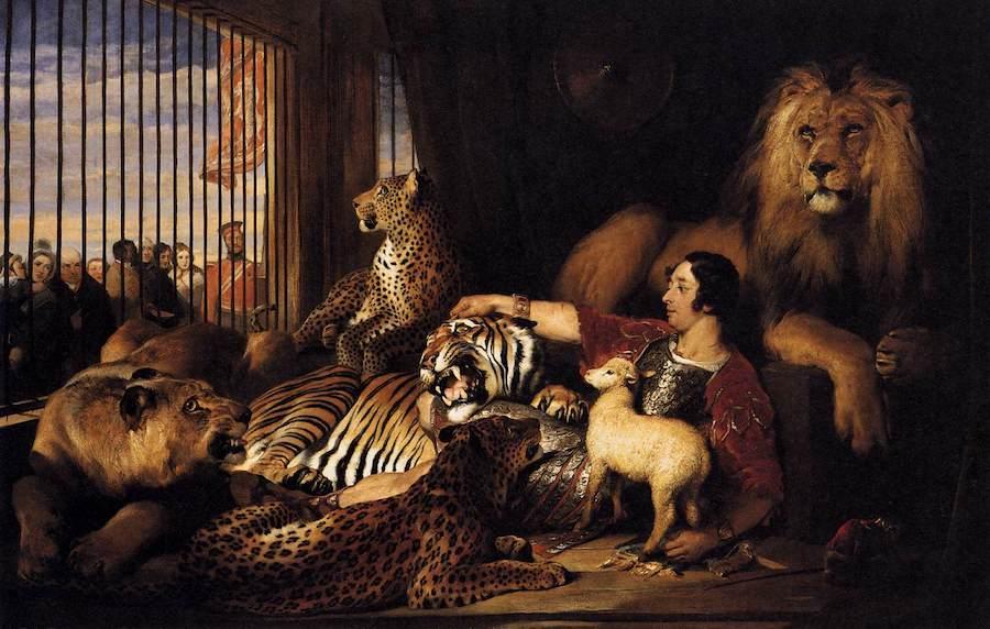 Edwin Henry Landseer, Isaac van Amburgh ze swoimi zwierzętami